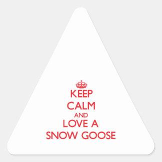 Ganso de nieve pegatina triangular