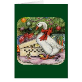 Ganso del navidad tarjeta pequeña
