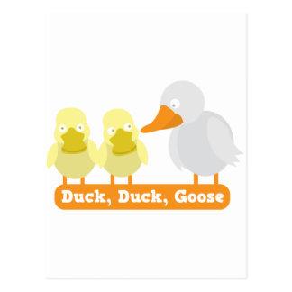 ganso del pato del pato tarjeta postal