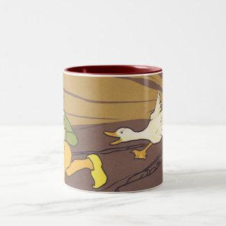 Ganso del vintage que puso la fábula de Esopo de o Tazas De Café