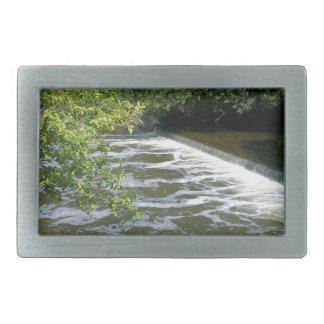 Ganso en el río hebilla cinturón rectangular