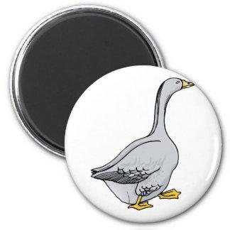 Ganso gris imán redondo 5 cm