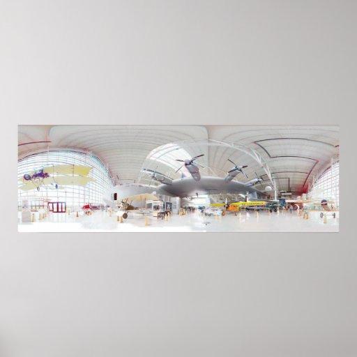Ganso Spruce 3D panorama de 360 grados Poster
