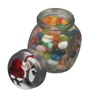 Ganso tonto de Santa - navidad palmído Jarras De Cristal Jelly Bely