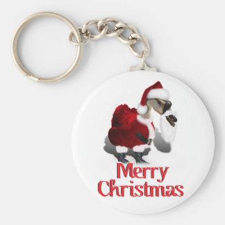 Ganso tonto de Santa - navidad palmído Llavero Redondo Tipo Pin