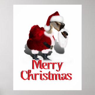 Ganso tonto de Santa - navidad palmído Poster