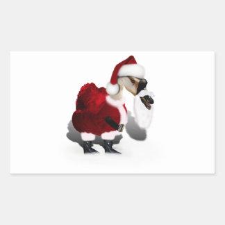 Ganso tonto de Santa - navidad palmído Rectangular Altavoces