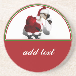 Ganso tonto de Santa - navidad palmído Posavasos Diseño