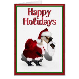 Ganso tonto de Santa - navidad palmído Tarjeta De Felicitación