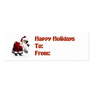 Ganso tonto de Santa - navidad palmído Tarjetas De Visita Mini