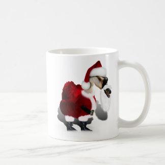 Ganso tonto de Santa - navidad palmído Taza Básica Blanca