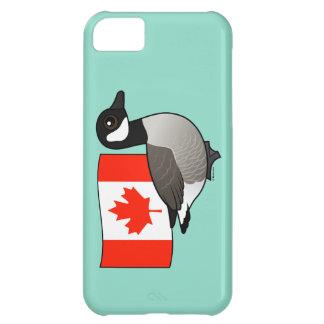 Ganso y bandera canadienses