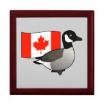 Ganso y bandera canadienses caja de joyas