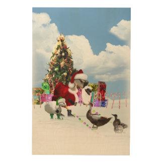 Ganso y patos de Santa del navidad Cuadro De Madera
