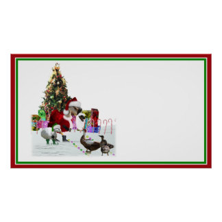 Ganso y patos de Santa del navidad Impresiones