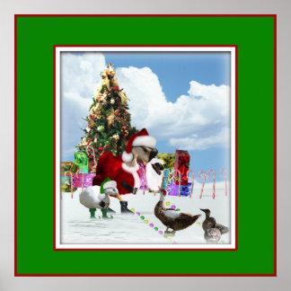 Ganso y patos de Santa del navidad Posters