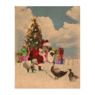 Ganso y patos de Santa del navidad Papel De Corcho Para Fotos