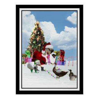 Ganso y patos de Santa del navidad