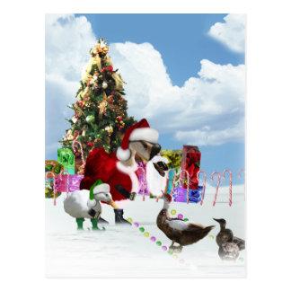 Ganso y patos de Santa del navidad Tarjeta Postal