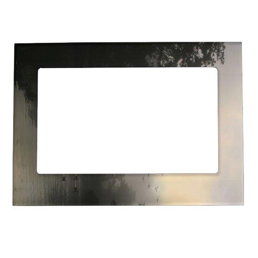Gansos de Canadá y niebla de la mañana Marcos Magnéticos Para Fotos