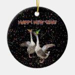 Gansos de la Feliz Año Nuevo Ornamento Para Reyes Magos