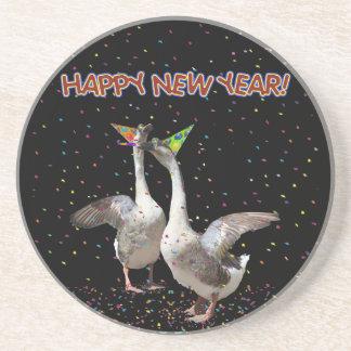 Gansos de la Feliz Año Nuevo Posavasos Manualidades