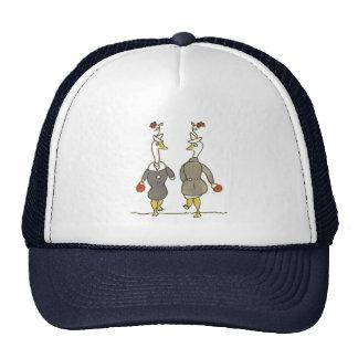 Gansos de las señoras gorras
