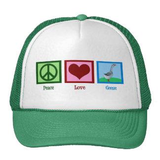 Gansos del amor de la paz gorra