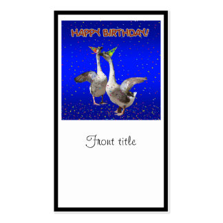 Gansos del feliz cumpleaños tarjetas de visita