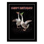 Gansos del feliz cumpleaños tarjetas postales