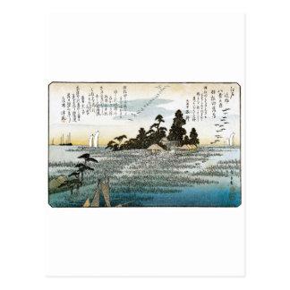 Gansos descendentes en Haneda, C. 1837-38. JAPÓN Tarjetas Postales