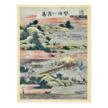 Gansos descendentes en Katada por Katsushika, Hoku Tarjetas Postales