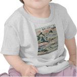 Gansos descendentes en Katada por Katsushika, Camisetas
