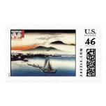 Gansos descendentes, Katata de Ando Hiroshige