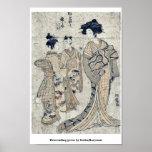 Gansos descendentes por Isoda, Koryusai Impresiones