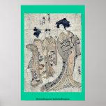 Gansos descendentes por Isoda, Koryusai Posters