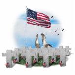 Gansos que saludan del Memorial Day Escultura Fotográfica