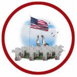 Gansos que saludan del Memorial Day Escultura Fotografica