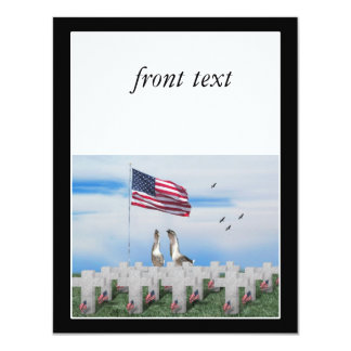 Gansos que saludan del Memorial Day Invitación 10,8 X 13,9 Cm