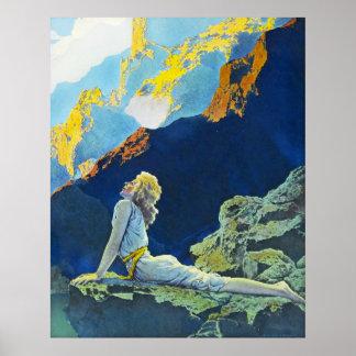Gansos salvajes, por Maxfield Parrish Póster
