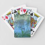 Gansos tranquilos del río cartas de juego