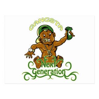 gansta next generation vector illustration postcard