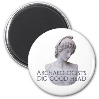 Ganymede Archaelogists Dig Good Head 2 Inch Round Magnet