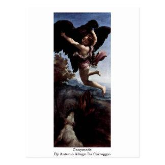 Ganymede By Antonio Allegri Da Correggio Post Cards