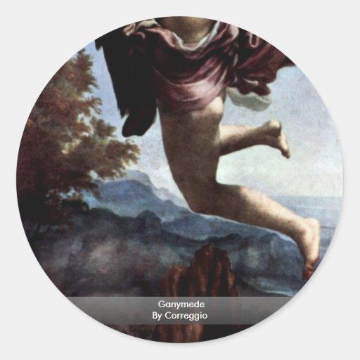 Ganymede By Correggio Classic Round Sticker