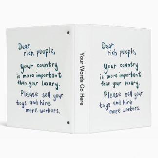Gap between rich and poor is too great word art binder