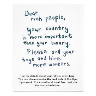 """Gap between rich and poor is too great word art 4.5"""" x 5.6"""" flyer"""