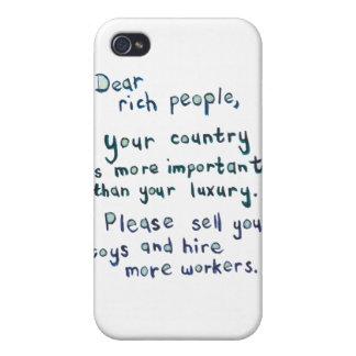 Gap between rich and poor is too great word art iPhone 4 case