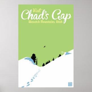 Gap de República eo Tchad de la snowboard Poster
