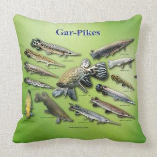 Gar-Pikes Throw Pillow